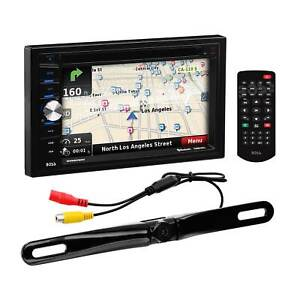 """Double-DIN, DVD Player 6.5"""" Touchscreen Navigation Bluetooth +BACK UP CAMERA"""