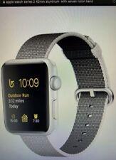 Apple watch series 2 42mm case ,Space Gray Aluminium, Woven Nylon - Black