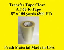 """1 Roll 8"""" x 300 ft  Application Transfer Tape Vinyl Signs R TAPE  Clear at 65"""