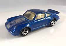 LOOSE MC TOY PORSCHE 911 TURBO #3 M.C EURO DIECAST CAR *BLUE 1/64