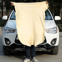 Natural Chamois Leather Car Washing Cleaning Cloth H Towel Absorbent Drying F1D9
