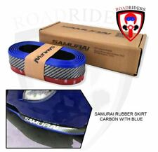 SAMURAI Rubber Bumper Lip Skirt Chin Protector (Carbon/Blue)