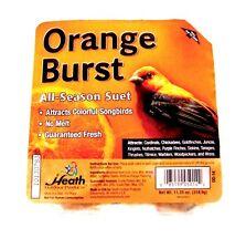 > Heath Orange Burst SONGBIRD SUET Blended Seed & Orange Flavor Bird ALL SEASON!