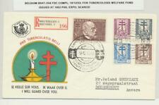 BELGIUM 1953 TUBERCULOSIS WELFARE SET ON FIRST DAY COVER ISSUED AT PHIL EXPO
