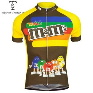 M&Ms Cycling Short Sleeve Jersey Ropa Ciclismo MTB Jersey Quick Dry Cycling Tops
