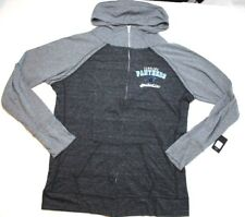 NFL Carolina Panthers Womens Curvy Triblend Color Block Full Zip Hoodie  Black 1x f40a9a7aa