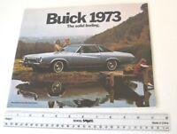 1973 Buick Riviera Electra 225 LeSabre Regal GS Century FL Sales Brochure