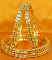 Indian Jewelry Bollywood Polki Lovable Beautiful Gold plated Wedding Bangles Set