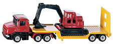 NEW BLISTER PACK 1611 SUPER SIKU Low Loader with Excavator Die-cast Model