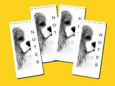 Cavalier King Charles Spaniel Dog Pack of 4 Small Slim Note Pads Gift Set