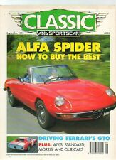 CLASSIC AND SPORTS CAR - September 1993 ALFA SPIDER BUYERS' GUIDE