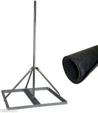 "Non-Penetrating Antenna Mast Roof Mount & 2"" x 60"" Mast + Roof Mat  EZ NP-60-200"