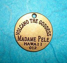 Bronze Charm Mermaid Volcano the Goddess Madame Pele Hawaii Charm Pirate Travel