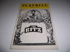 1975 LONGACRE THEATER PLAYBILL - THE RITZ - JUNE GABLE STUBBY KAYE MIKE KELLIN
