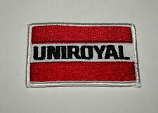 2 Vintage Uniroyal Tire & Rubber Tires Automotive Cloth Jacket Patch 70s NOS New