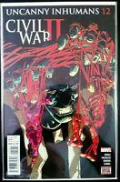 The UNCANNY INHUMANS #12 Civil War II (2016 Marvel Comics) ~ VF/NM Comic Book
