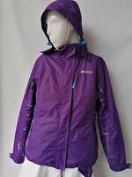 Mountain Warehouse ladies outdoor jacket coat purple size 12 waterproof top