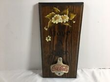 Vintage Coca Cola Bottle Opener Starr X Wood Have Coke Plaque W Germany #8