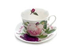 Roy Kirkham Jumbotasse Versailles Rosen inkl. Untertasse große Tasse