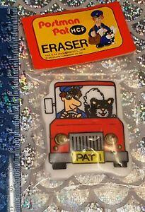 Vintage Postman Pat Eraser Gomme Rubber New Merchandise
