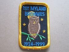 1st Myland Brownies Girl Guides Cloth Patch Badge (L4K)