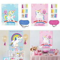 Unicorn Party Pin The Horn On Unicorn Wall Sticker Game Kids Birthday Gift Favor