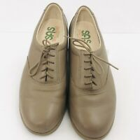 SAS Women's 10.5 N Tripad Comfort Whisper Casual Mocha Leather Lace Up Shoes
