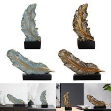 Feder Statue Moderne Wohnaccessoires Dekoration Skulptur Kunst Ornamente