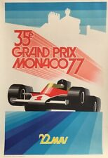 Vintage Authorised Edition Grand Prix Poster for the Monaco Race 1977