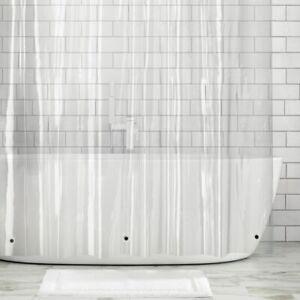 "mDesign LONG Waterproof Vinyl Shower Curtain Liner - 84"" Long - Clear"