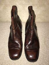 Vintage Sears Easy Flex Zip Leather Beatle Boots Mens 10.5 D