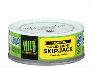 Wild Selections Tropical Solid Light Skipjack Tuna In Water 5 Oz with Sea Salt