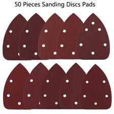 50X Delta Sanding Sheets Discs Mouse Triangle Sander Sandpaper Grinder Paper Pad