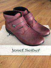 Nueva marca Josef Seibel Damas Piel Forrada, Velcro tobillo bota-Cuero Rojo UK 8/42