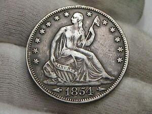 VF 1854 Seated LIBERTY Half Dollar.  #41