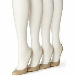 F258 Hue Cream Women's 4 Pair Pack Micro Liner Socks