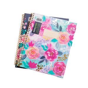 2pk Mintgreen 3 Subject 8.5x10 Spiral Notebooks – Plastic Covers