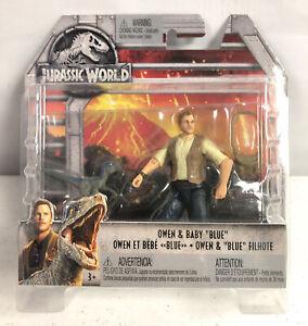 Mattel Jurassic World Dinosaur Owen Baby Blue Action Figure Complete In Open Box