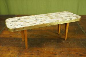60er Vintage Flower Stand Bench Kidney-Shaped Stool Table 3