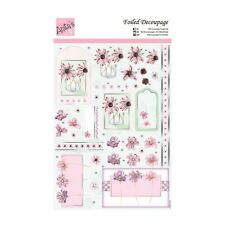 ANITAS FOILED DECOUPAGE FOR CARDS OR CRAFTS -SINGLE FLOWERS