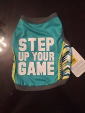 """New listing Top paw """"Step Up Your Game"""" Dog Shirt Teal - Small - Nwt"""
