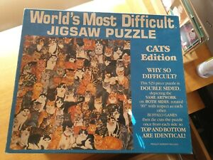 Used Buffalo WORLD'S MOST DIFFICULT DOUBLE CAT SPEAD 529 Pc Jigsaw Puzzle