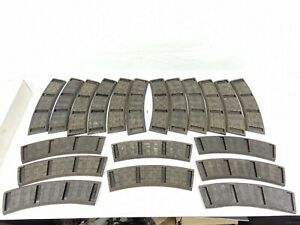 Vintage 20pc A.C. Gilbert 727 Curved Rubber Roadbed Track S Gauge SEE PICS FLYER