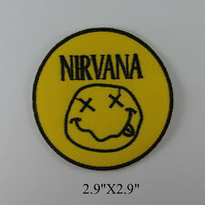 NIRVANA EMBROIDERED MUSIC SONGS HEAVY METAL SEW IRON ON PATCH T-SHIRT CAP