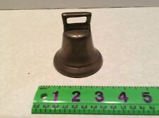 """Vintage heavy solid brass bell , 3"""" high"""