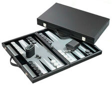 "Medium Tournament Backgammon Set, Grey 18.5""x15"" NIB FREE P&P parts of UK"
