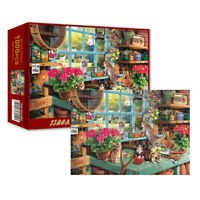 Cute Cats - 1000 Pieces Jigsaw Puzzles For Adults Kids Learning Education GiftCN