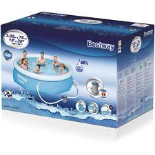 BESTWAY 57270 - Planschbecken - Fast Set Pool-Set mit Filterpumpe, 305 x 76 cm