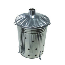 20 LITRE INCINERATOR GALVANISED METAL GARDEN WASTE RUBBISH WOOD FIRE BIN BURNER