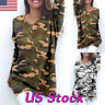 Fashion Women's Casual Loose Long Sleeve V-neck Pullover Tops Shirt Tunic Blouse